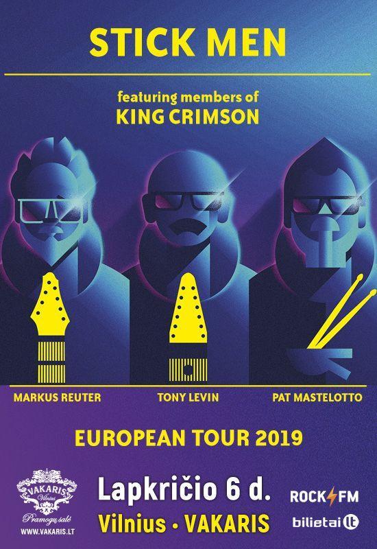 STICK MEN feat. members of KING CRIMSON – European Tour 2019