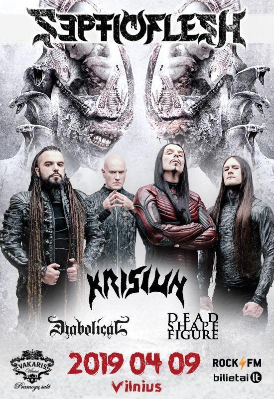 ROCK FM pristato: SEPTICFLESH + KRISIUN + supports koncertas Vilniuje