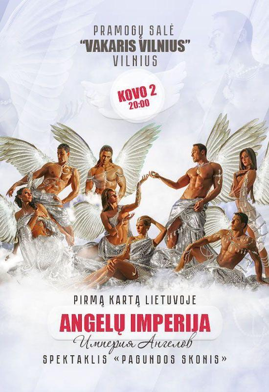 """Erotikos teatras """"Angelų imperija"""" spektaklis """"Pagundos skonis""""   Vilnius"""