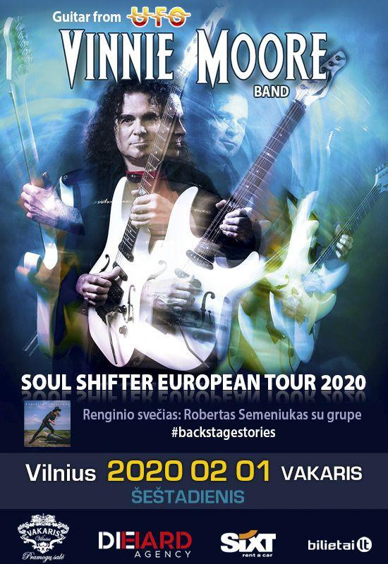 VINNIE MOORE (guitar from UFO) – Soul Shifter European Tour 2020 – Vilnius