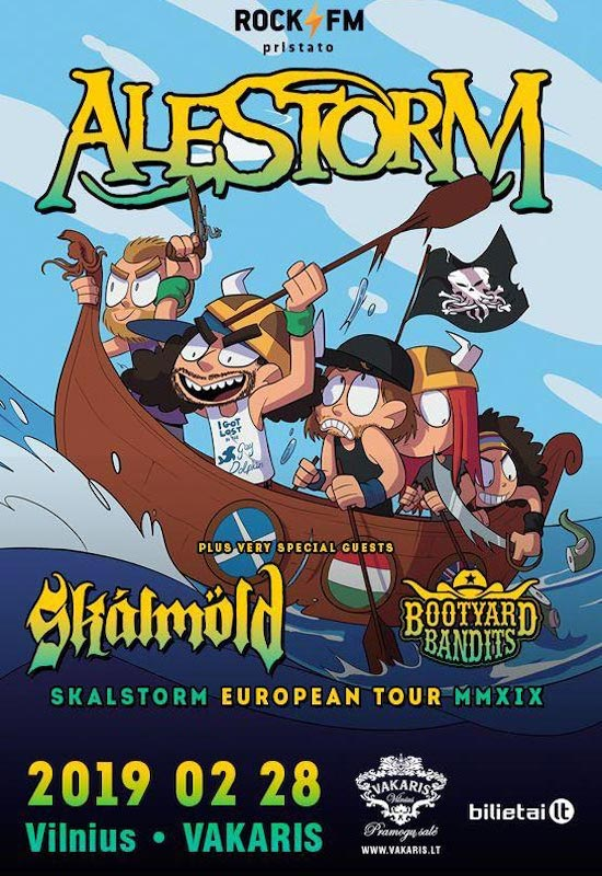 ALESTORM | Skalmöld | Bootyard Bandits: SKALSTORM European Tour 2019 – Vilnius