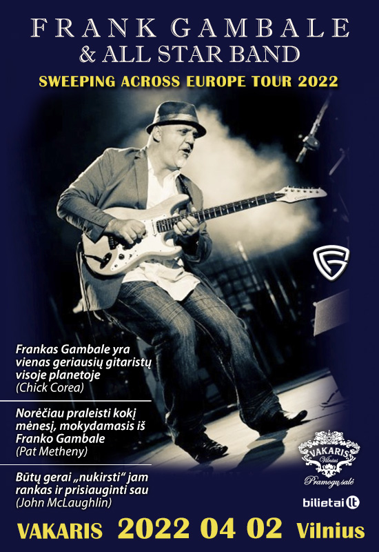 FRANK GAMBALE & ALL STAR BAND: Sweeping across Europe tour 2022