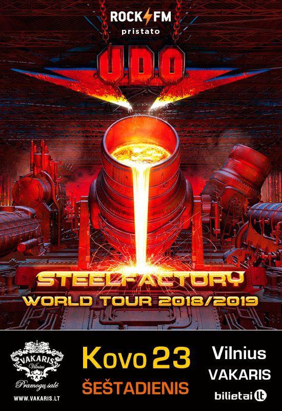 U.D.O. – Steelfactory World Tour 2019