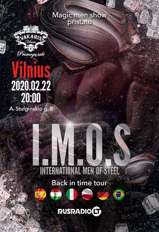 Erotinis vyrų striptizo šou I.M.O.S – International Men of Steel | VILNIUS