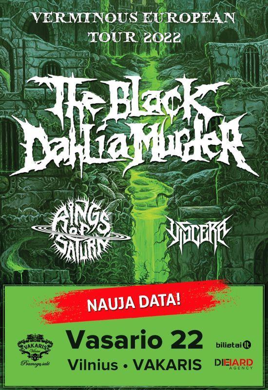 THE BLACK DAHLIA MURDER, RINGS OF SATURN, VISCERA: Verminous Tour 2022