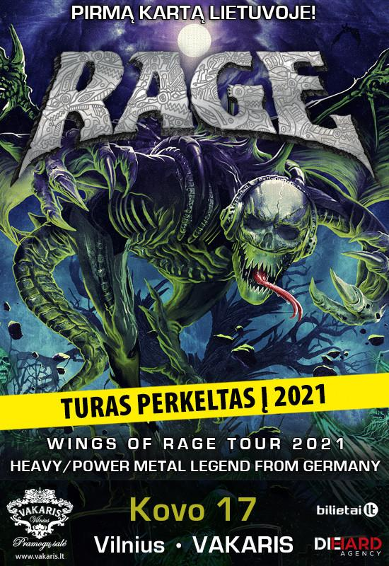 (Perkeltas) RAGE – Wings Of Rage Tour 2021
